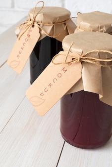 Heerlijke jampot label mockup