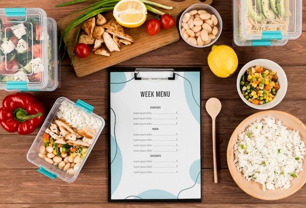 Heerlijke menu-concept mock-up