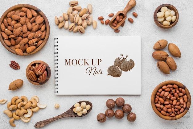 Heerlijke noten concept mock-up