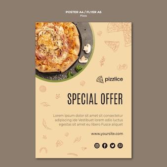 Heerlijke pizza flyer-stijl