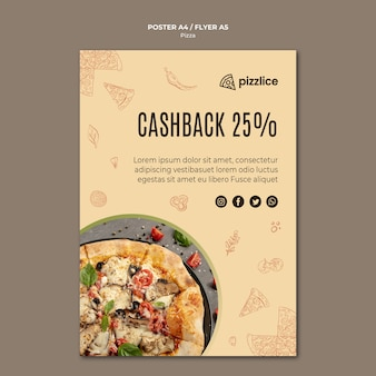 Heerlijke pizza posterontwerp