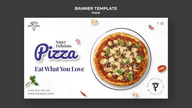 Heerlijke pizza sjabloon voor spandoek