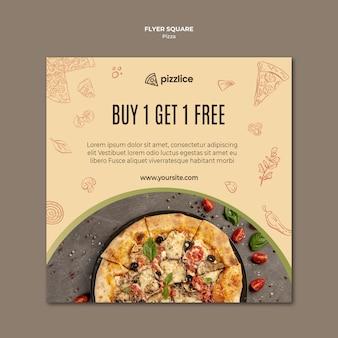 Heerlijke pizza vierkante flyer