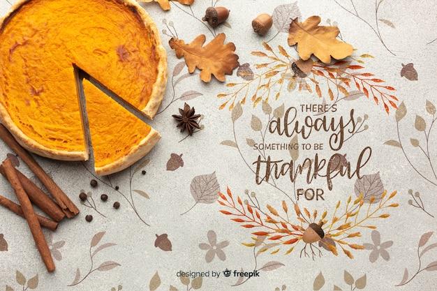 Heerlijke taart bereid voor thanksgiving day