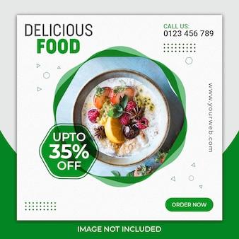Heerlijke voedselpost voor sociale media