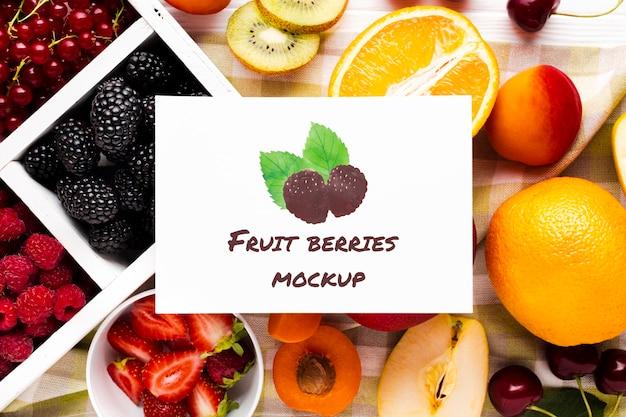 Heerlijke vruchten concept mock-up