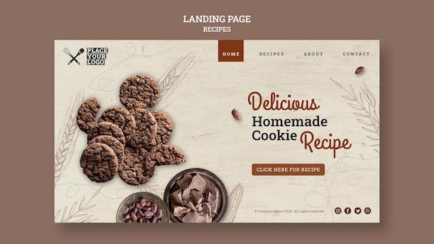 Heerlijke zelfgemaakte bestemmingspagina voor koekjesrecepten