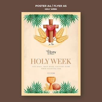 Heilige week afdruksjabloon