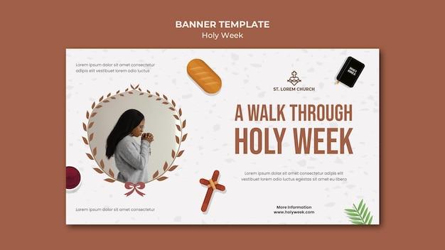 Heilige week banner met foto