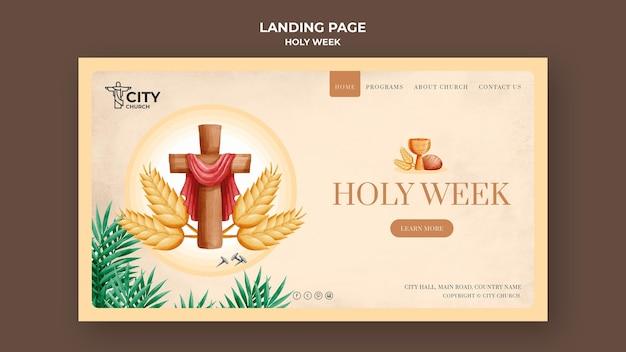 Heilige week websjabloon