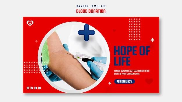 Help een leven-bannersjabloon