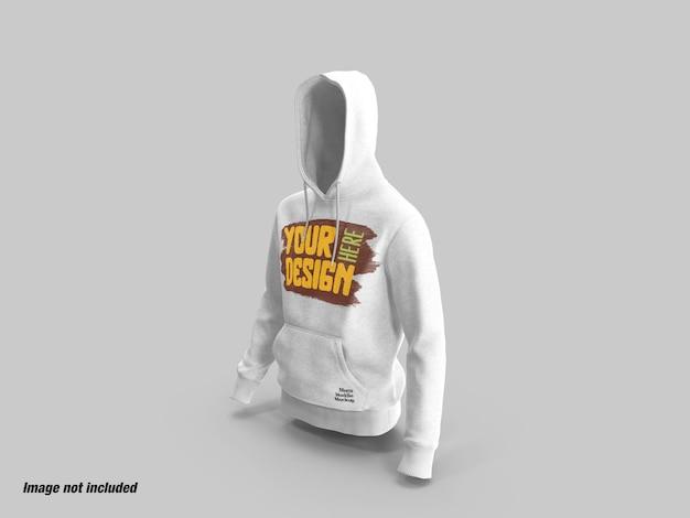 Heren hoodies zijaanzicht mockup