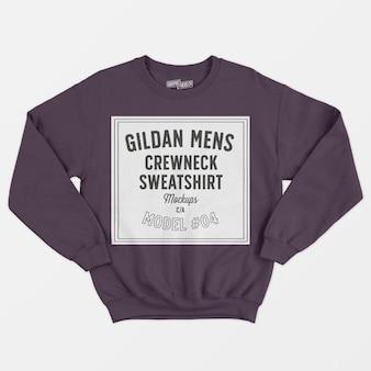 Heren sweatshirt met ronde hals