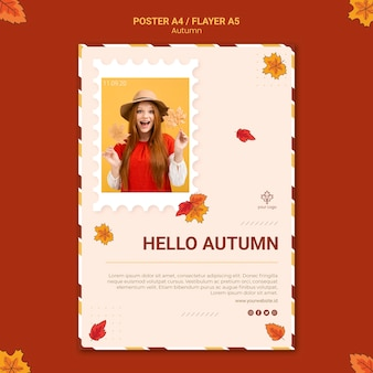 Herfst advertentie folder sjabloon
