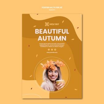 Herfst concept folder sjabloon