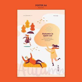 Herfst concept poster sjabloon