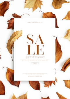 Herfst verkoop banner of kaart