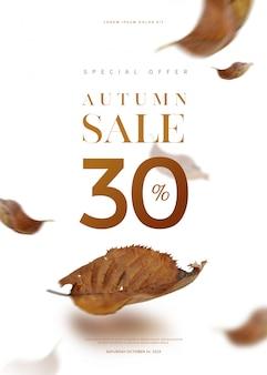 Herfst verkoop banner