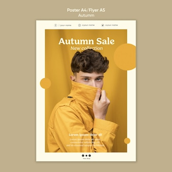 Herfst verkoop sjabloon folder