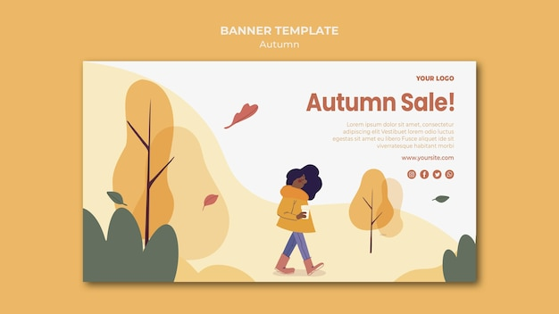 Herfst verkoop sjabloon voor spandoek