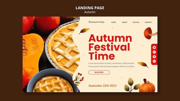 Herfst websjabloon met foto