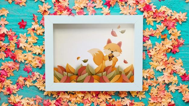 Herfstmodel met frame