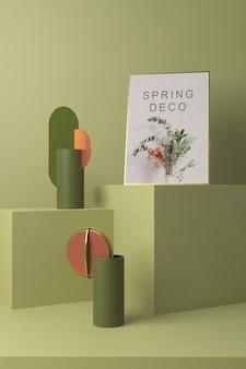 Hermosa maqueta de concepto de deco de primavera