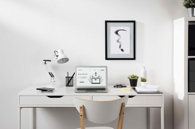 Hermosa maqueta de concepto de escritorio