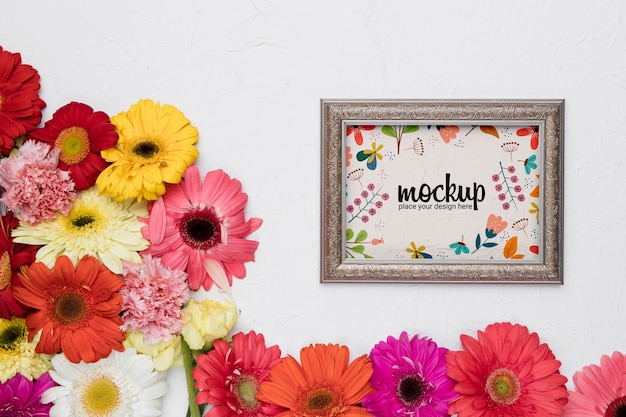 Hermosa maqueta de concepto floral