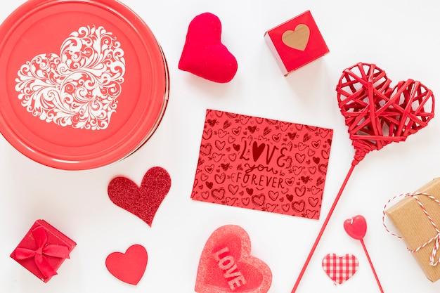 Hermosa maqueta del concepto de san valentín
