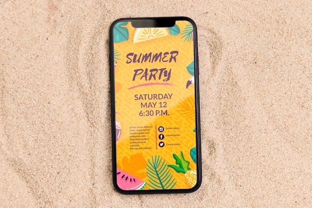 Hermosa maqueta de concepto de verano