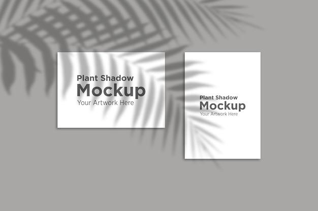 Hermosa maqueta de sombra sobre papel de planta