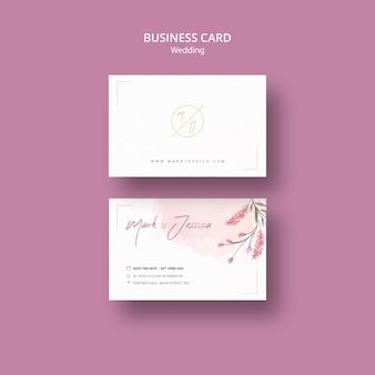 Hermosa maqueta de tarjeta de visita de boda
