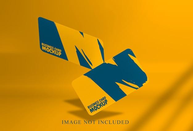 Hermosa maqueta de tarjeta de visita flotante