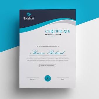 Hermosa plantilla de certificado simple