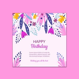 Hermosa plantilla de tarjeta de cumpleaños