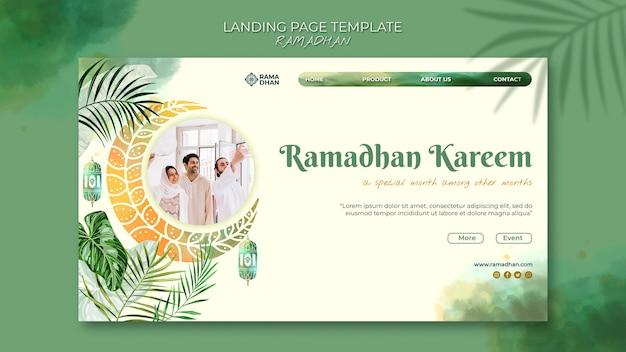 Hermosa plantilla web de ramadán