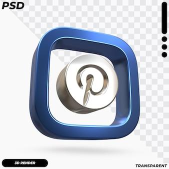 Hermosa representación del logotipo de pinterest