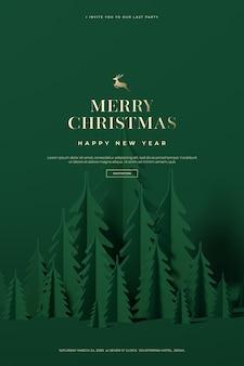 Hermosa tarjeta de navidad y feliz año nuevo