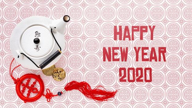 Hermoso concepto de año nuevo chino