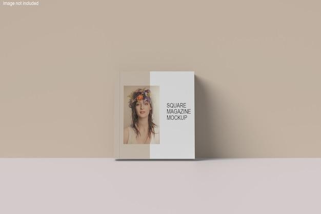 Hermoso diseño de maqueta de revista cuadrada