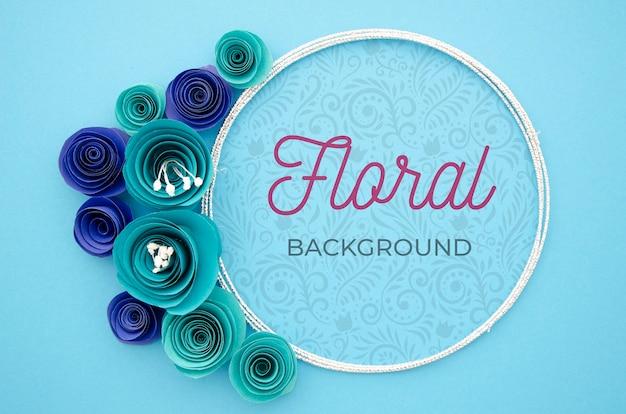 Hermoso marco floral con mensaje