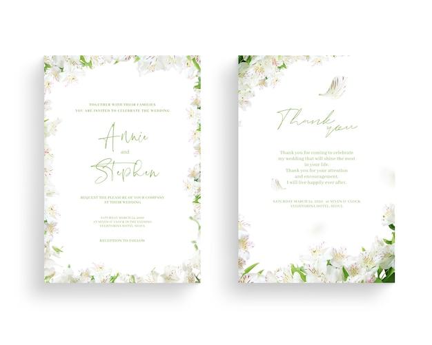 Hermoso marco de flores de primavera, invitación, invitación de boda, gracias saludo,