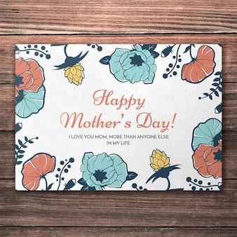 Hermoso mockup de cover para el día de la madre