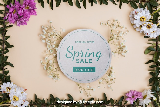 Hermoso mockup de primavera