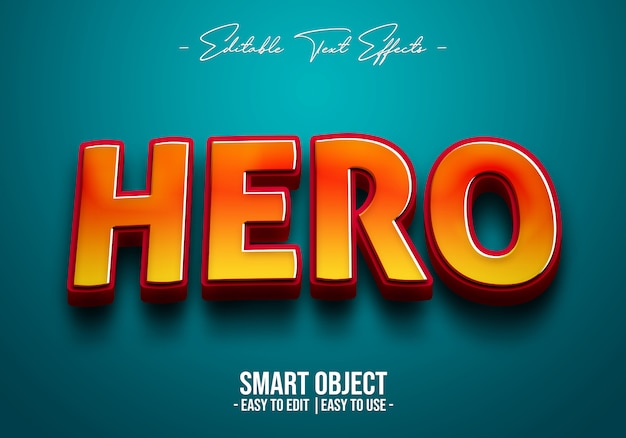 Hero text style effect