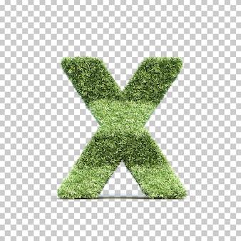 Het 3d teruggeven van alfabet x van het gras speelgebied