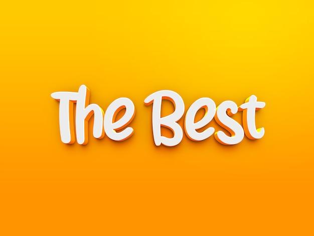 Het beste 3d-tekststijleffect