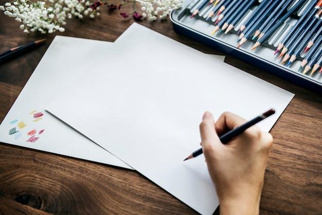 Het concept van de illustratorwerkruimte met copyspace