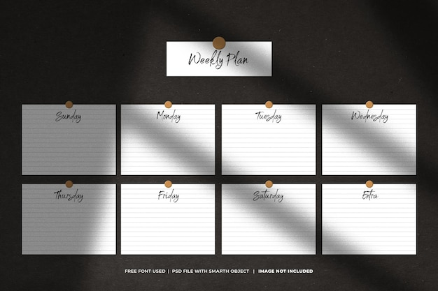 Het concept van planning en deadline met een plaknotitie